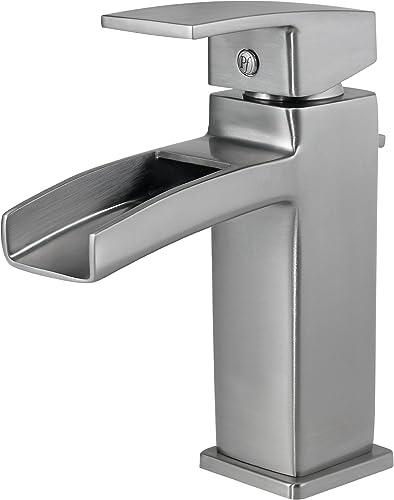 Pfister GT42DF0K Kenzo Single Control Waterfall 4 Inch Centerset Bathroom Faucet in Brushed Nickel