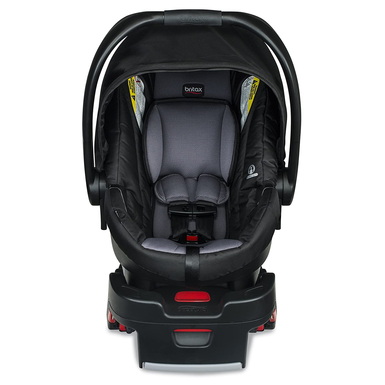 Grey 1 Layer Impact Protection Dual Comfort Moisture Wicking and Ventilating Fabric 4 to 35 Pounds Rear Facing Britax B-Safe 35 Infant Car Seat