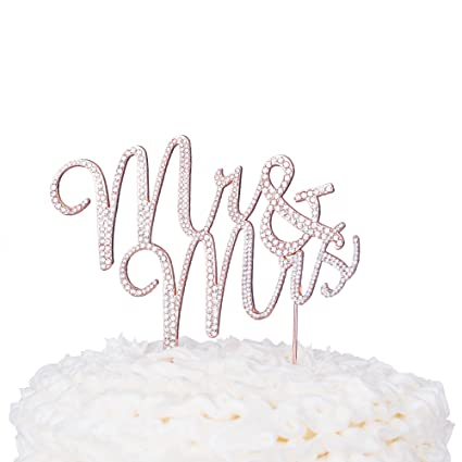 Amazon Ella Celebration Mr And Mrs Wedding Cake Topper Rose