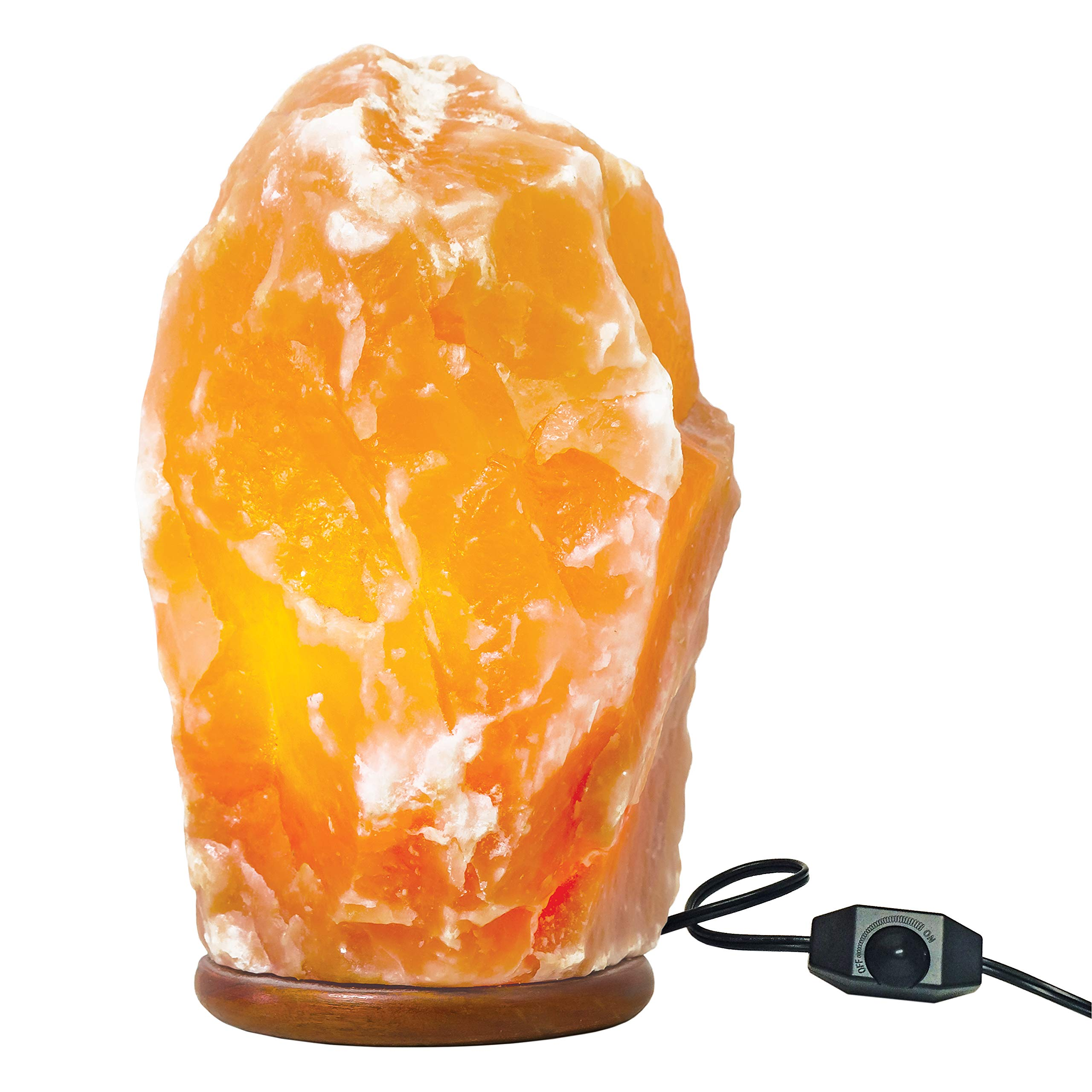 Large Dimmable Himalayan Salt Lamp - Natural Hand Carved 100% Authentic Ionic Pink Salt Crystals – 8.5-10 inches Tall