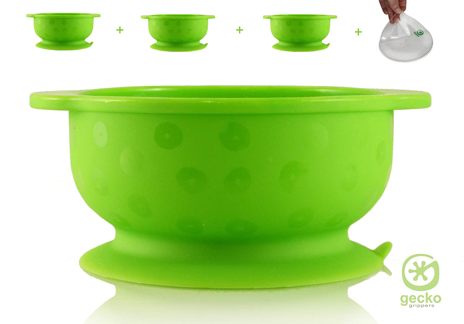 STRONGEST Suction Bowls - 3 x Baby Bowls + Gripper Mat - Value & Quality - Baby Toddler Weaning Self Feeding - Dishwasher, Microwave & Oven Safe