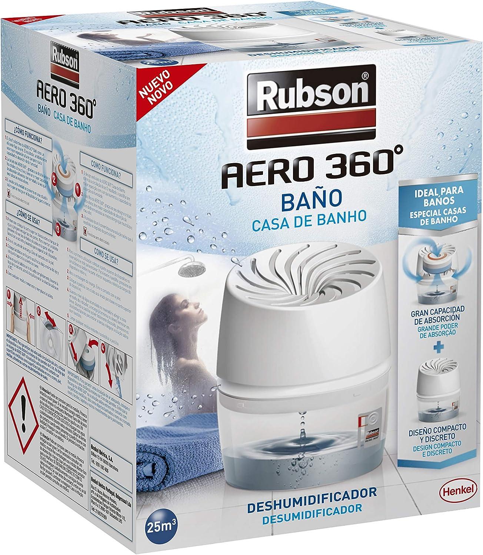 Rubson Aero 360º Baños Deshumidificador, Plastic, Blanco