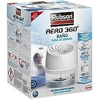 Rubson AERO 360º Baño, deshumidificador portátil sin cable para baño, absorbe humedad para la circulación del aire…