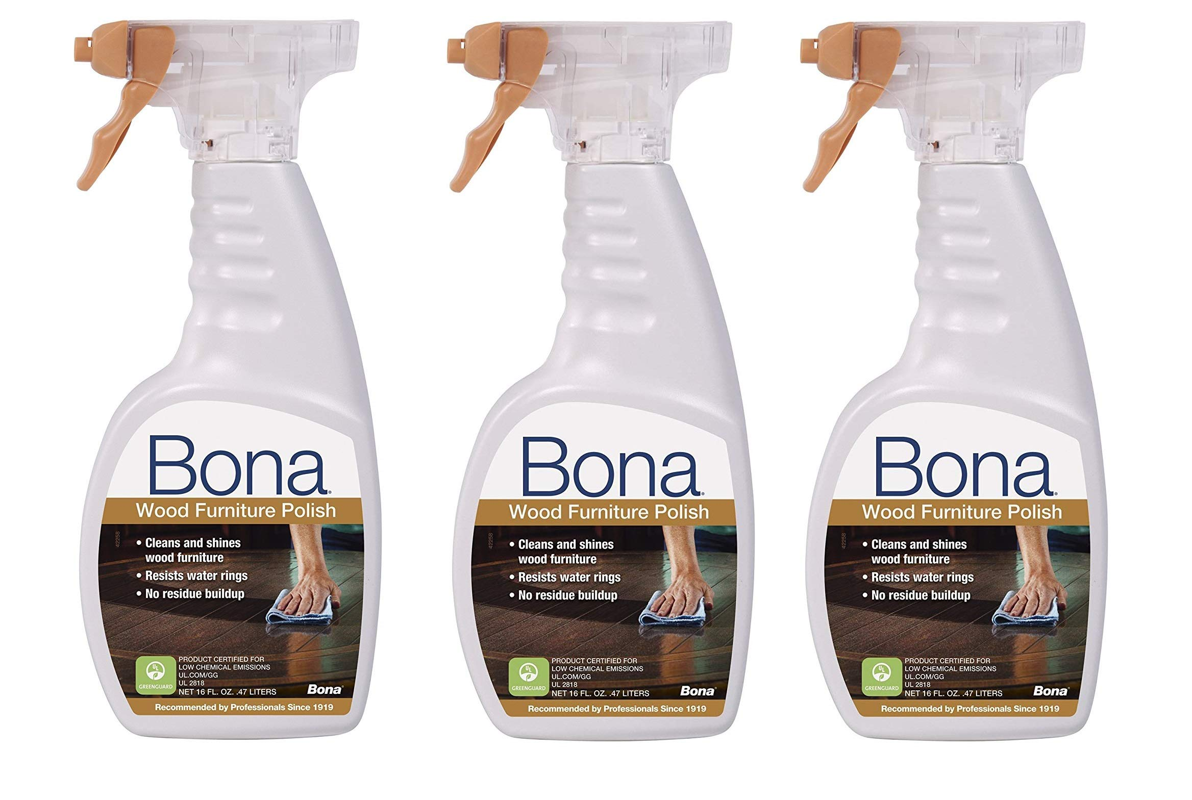 Bona 16 Ounce Wood Polish Clean & Shine Your Furniture, Sold as 3 Pack (WP650052001) by Bona