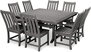 product image for POLYWOOD Vineyard 9-Piece Dining Set (Slate Grey)