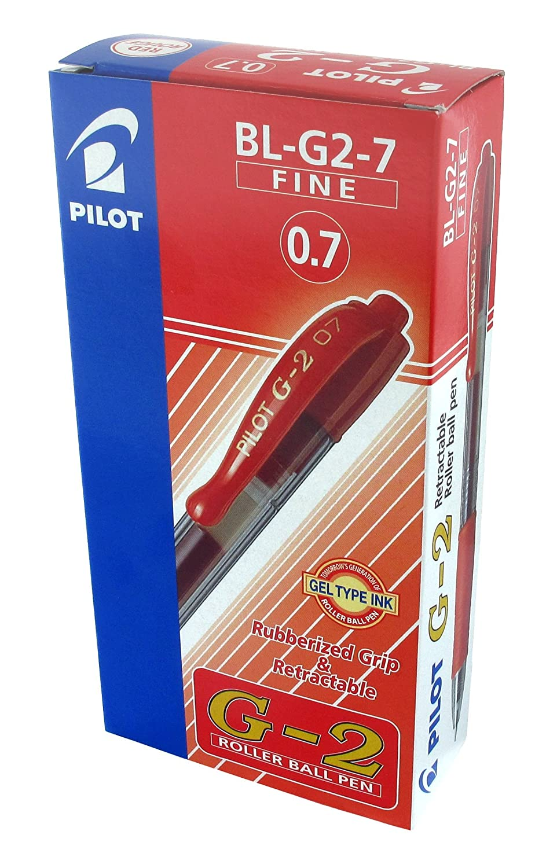 Pilot BL-G2-7 /& G207 Penna 0,7 mm confezione da 12 colore: Nero confezione da 12 pezzi