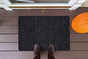Sweet Home Stores Rib Design Indoor/Outdoor Non-Slip Stair Treads and Rug, Black, 2' x 3', SH-SRT704-2X3