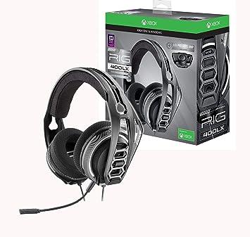 Plantronics - Auriculares para juegos RIG 400LX para Xbox One con código de activación Dolby Atmos prepago y adaptador LX1 incluido: Amazon.es: Electrónica