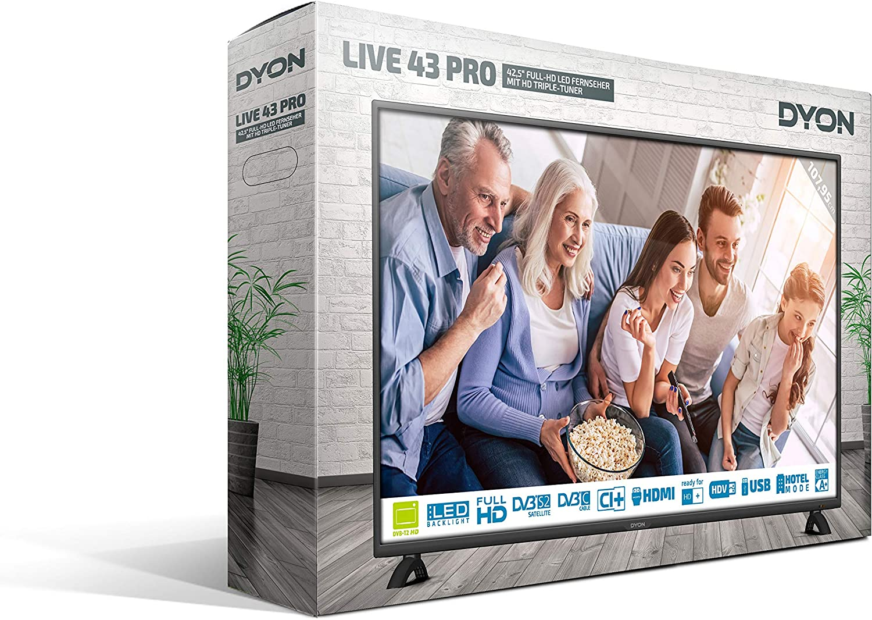 DYON Live 43 Pro LED-TV 108cm 42.5 Zoll EEK A+ (A++: Amazon.es: Electrónica