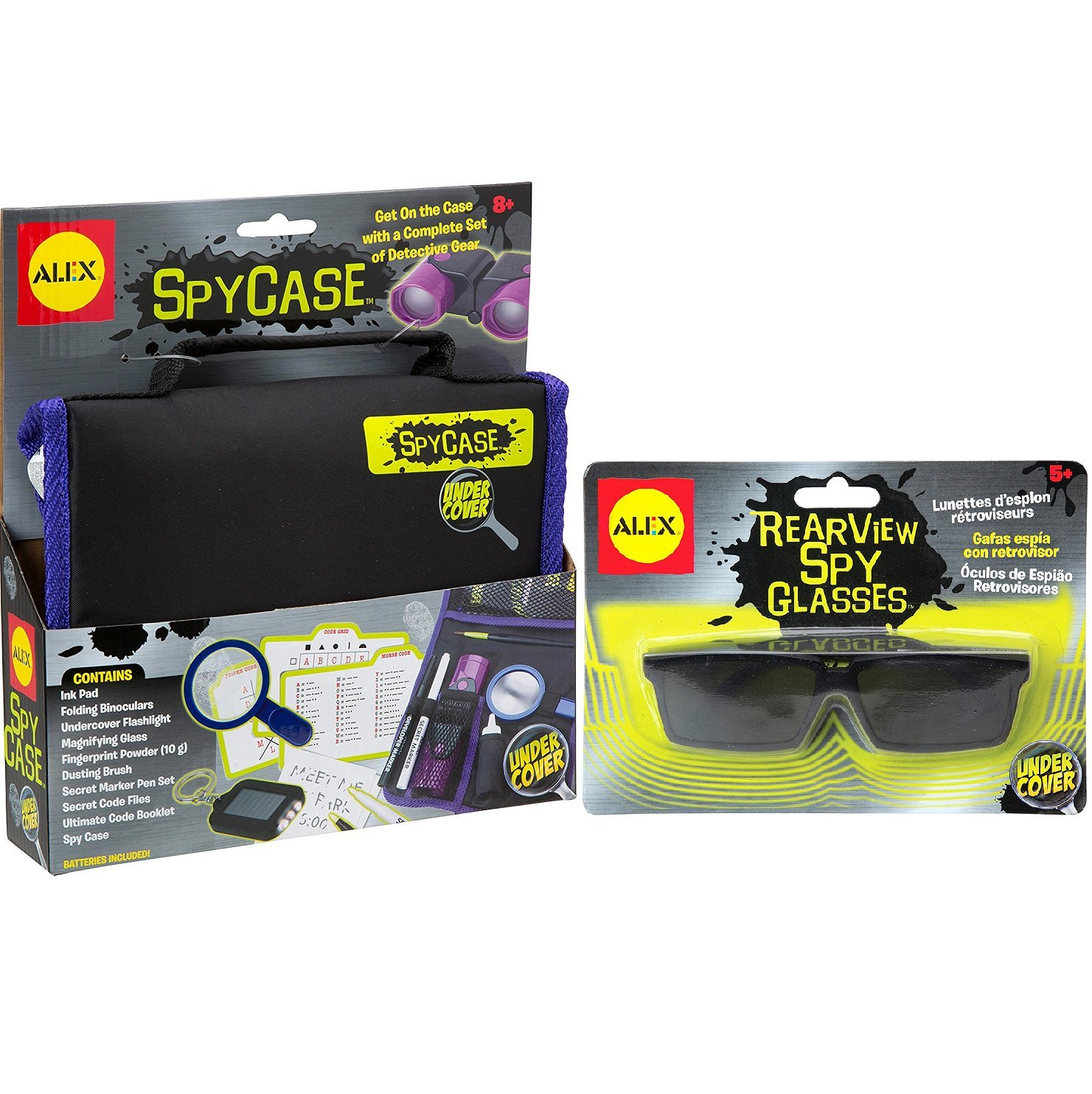 ALEX Toys Undercover Spy Case Detective Gear Set Rearview Spy Glasses, Great Value Kit!! by ALEX Toys