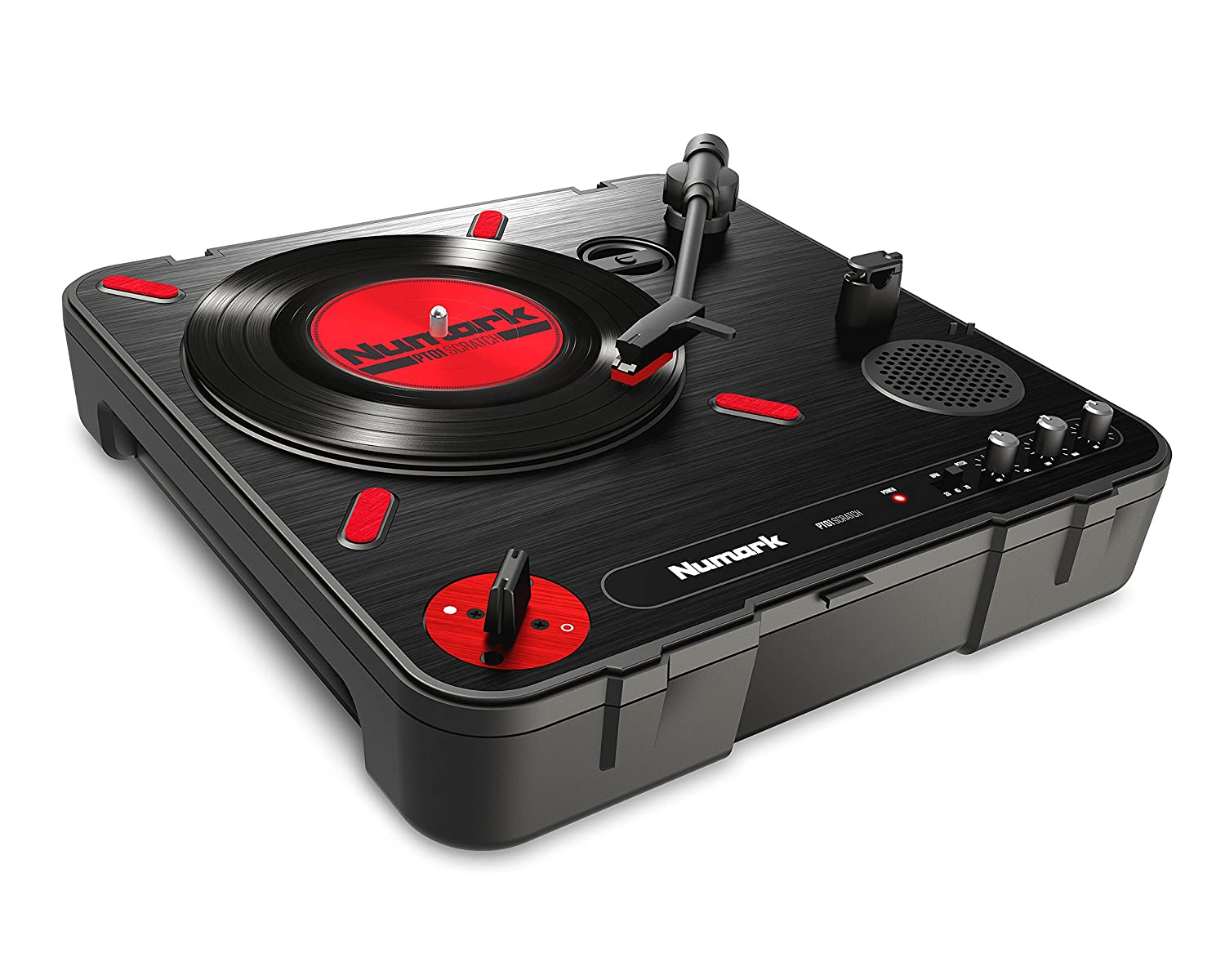 numark PT01 Scratch Portable Turntable with Built In DJ Scratch Switch, Speaker, Carrying Handle