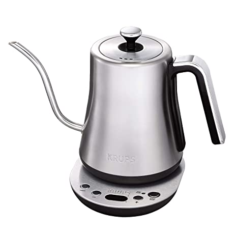 Krups Bw760d51 Gooseneck Electric Kettle 1 2 L Capacity 30 Minute Keep Warm Precise Pouring Stainless Steel
