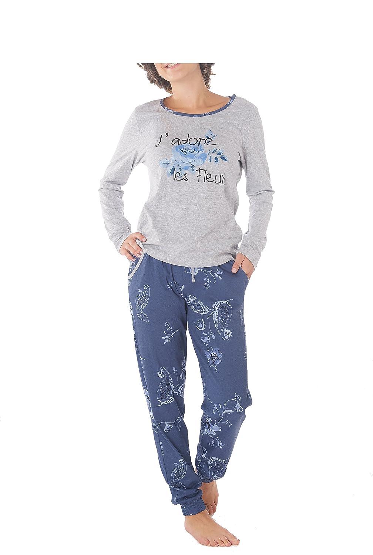 Ensemble de Pyjama Femme 100/% Coton Manches longues