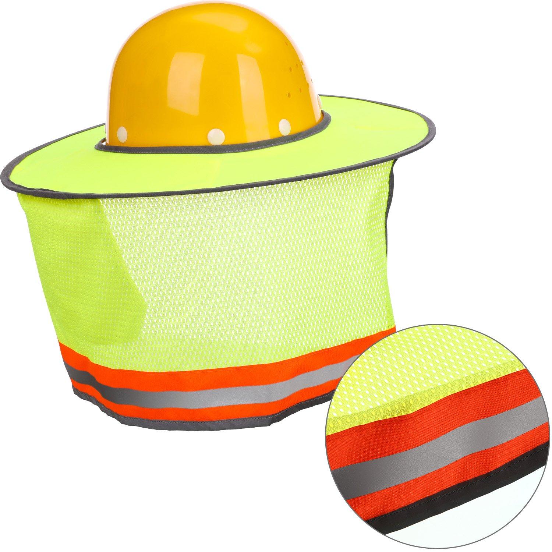 63b55821f3ecf Maxdot 2 Pack Hard Hat Sun Neck Shield Full Brim Sunshade for Hard Hats