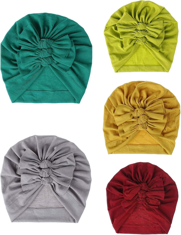 Kids Newborn Baby Boy Girl Winter Soft Warm Beanie Cotton Wrapped Cap Turban Hat