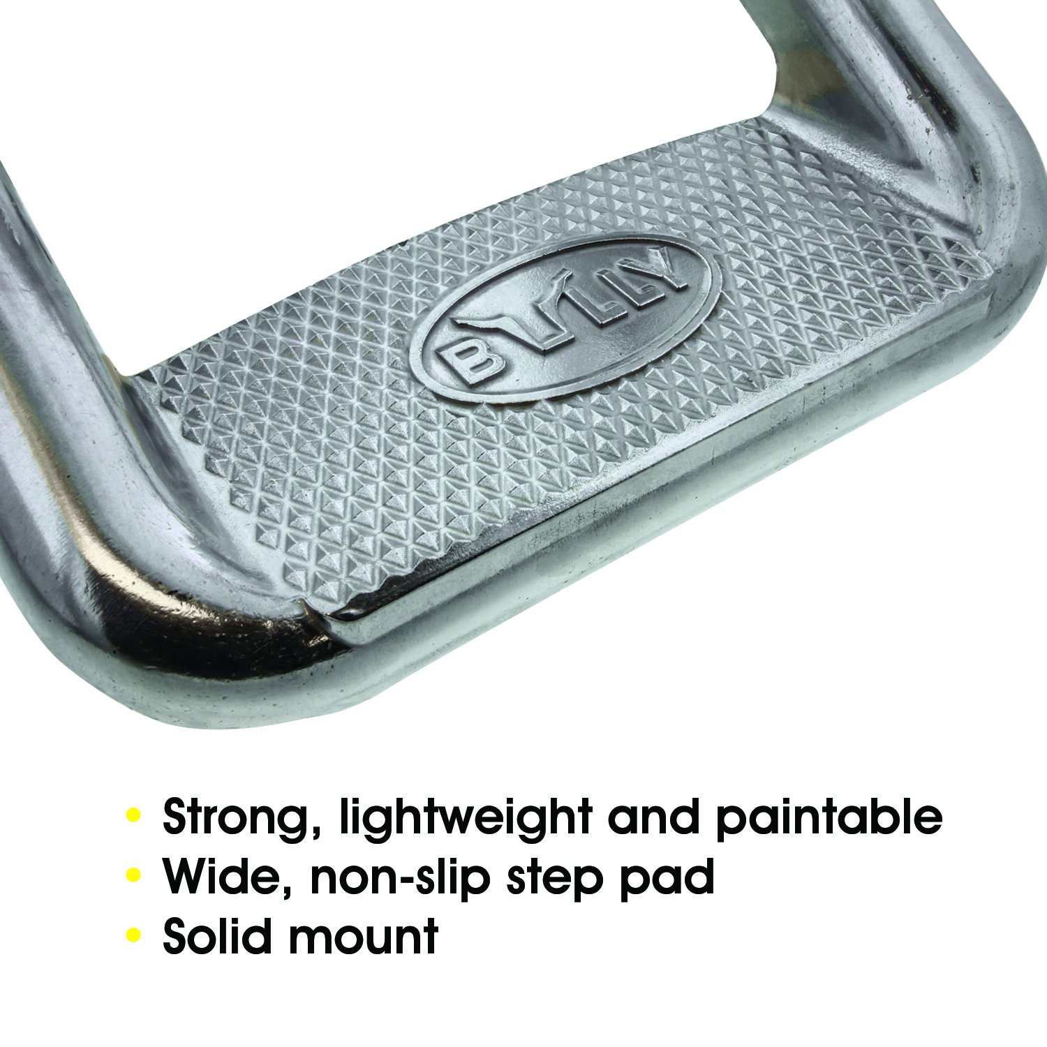 Bully AS-600-2 Polished Aluminium Multi-Fit Truck SUV Side Steps (2 Pairs) by Bully (Image #3)