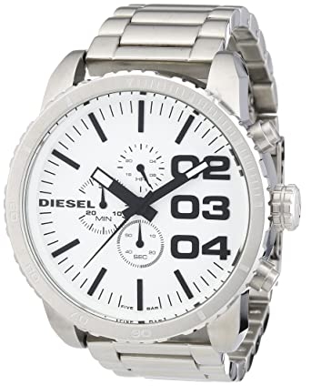 Mens XL Diesel Chronograph Watch Stainless Steel DZ4219