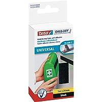 tesa On & Off Klittenband Universal - Plakbare klittenbandtape - Dubbelzijdig om lichte voorwerpen te bevestigen, zonder…