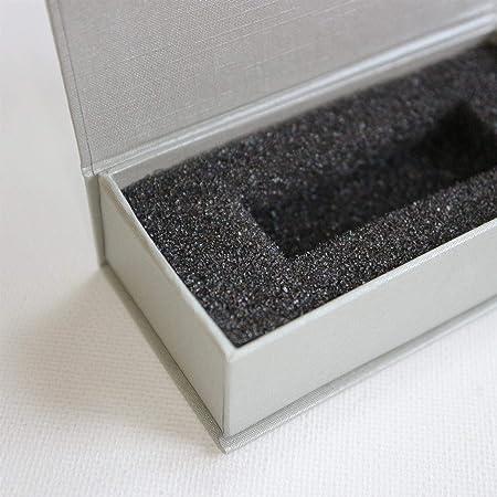4x Gris Plateado cajas de regalo magnéticas para USB: caja de regalo con solapa magnética. Incluye espuma, para usar con memorias flash y unidades extraíbles. Obsequio: Amazon.es: Hogar
