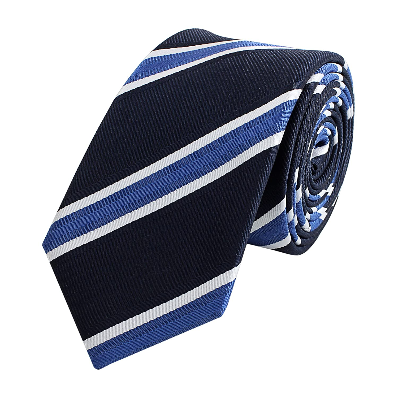 Corbata de Fabio Farini en rayas azules: Amazon.es: Ropa y accesorios
