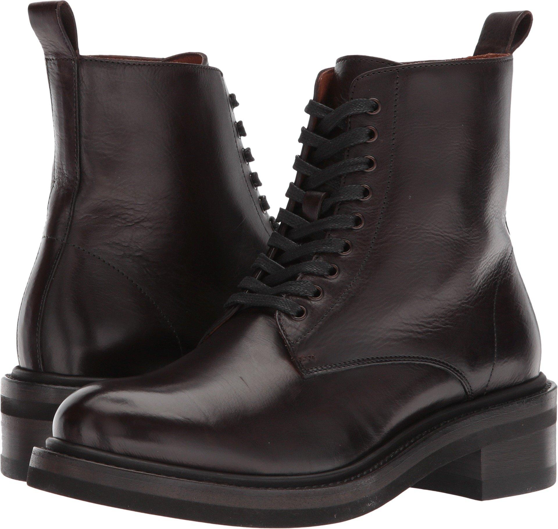 FRYE 3478590 Women's Alice Combat Boot, Dark Brown - 10M