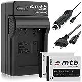 2 Batteries + Chargeur (Auto/Secteur) pour JVC BN-VH105, GC-XA1, XA2 / BenQ DLI-301/ Silvercrest..voir liste