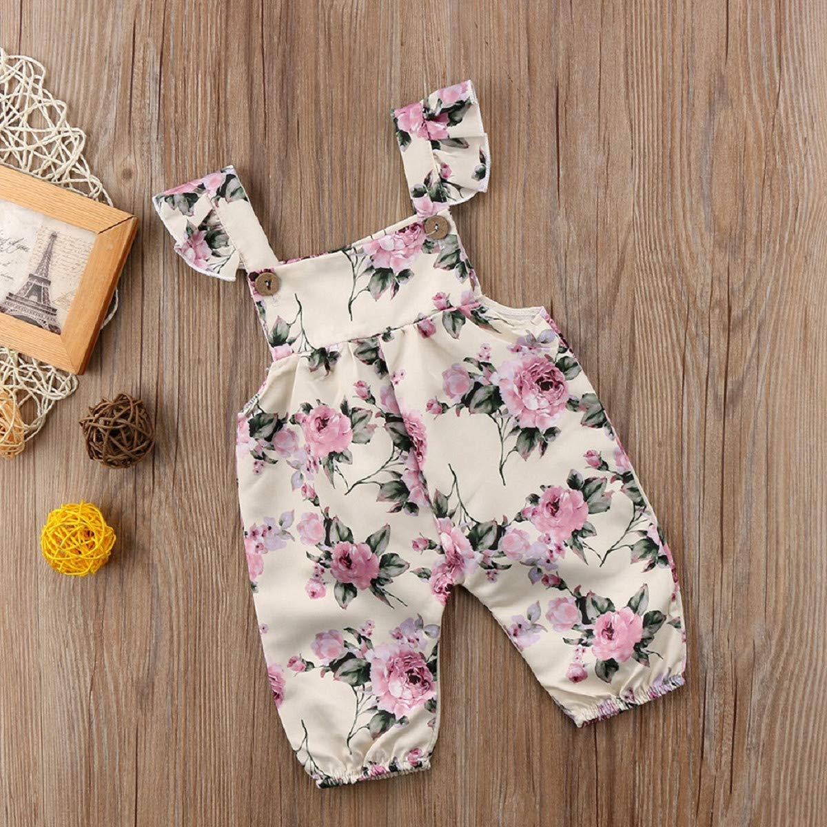 Infant Bodysuit for Girl 2019 Omingkog Infant Baby Girls Sleeveless Floral Print Jumpsuit Romper Outfits Clothes
