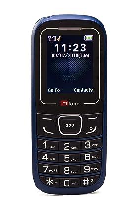 Phone Cheapest Pay Go o2 Simple You Sos As Tt110 Ttfone Basic Senior Emergency - Blue Mobile