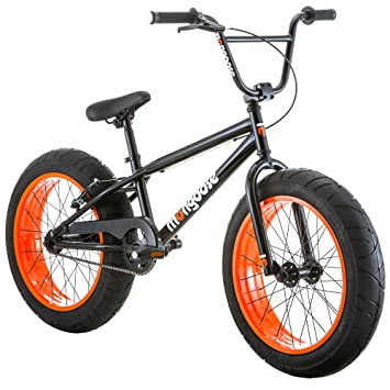 Amazon.com : Mongoose Menace 20 Inch Fat Tire Alloy Youth Kids Speed ...