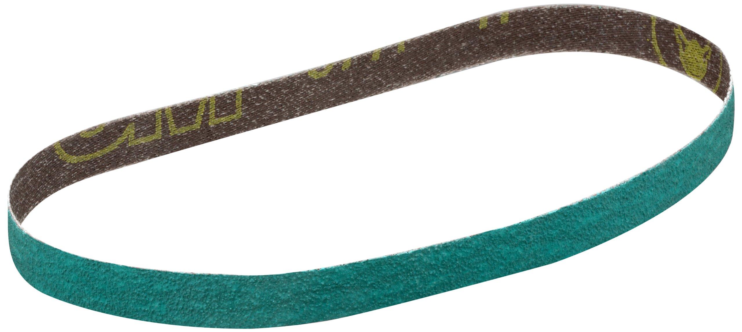 3M Cloth Belt 577F, Alumina Zirconia, Wet/Dry, 3/4'' Width x 18'' Length, 120 Grit, Green (Pack of 200)