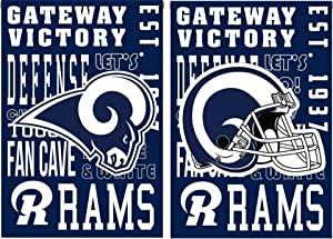 Evergreen Enterprises, Inc. Rams Garden Flag Premium Fan Rules Design 2-Sided House Banner Football