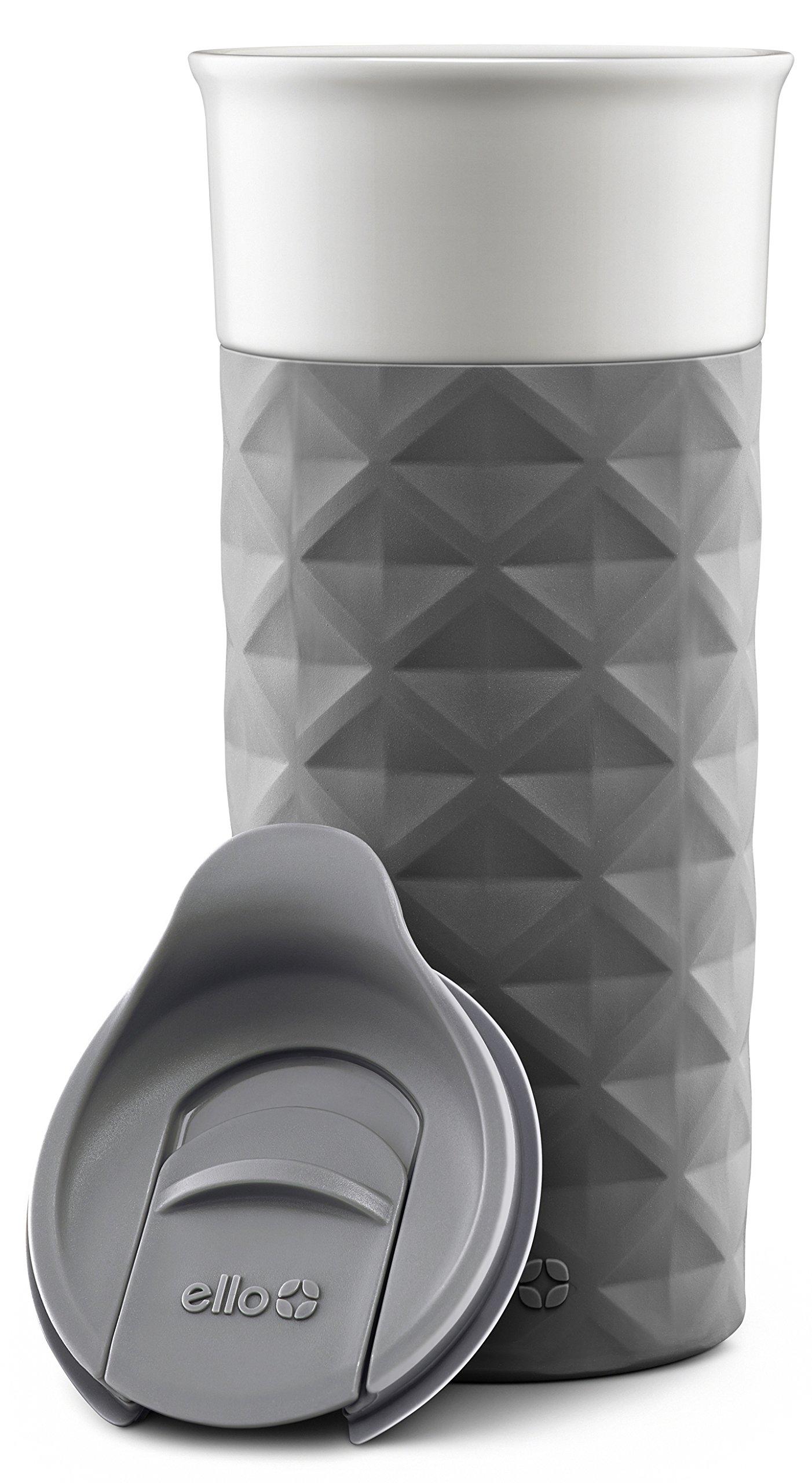 Ello Ogden BPA-Free Ceramic Travel Mug with Lid, Grey, 16 oz by Ello (Image #3)