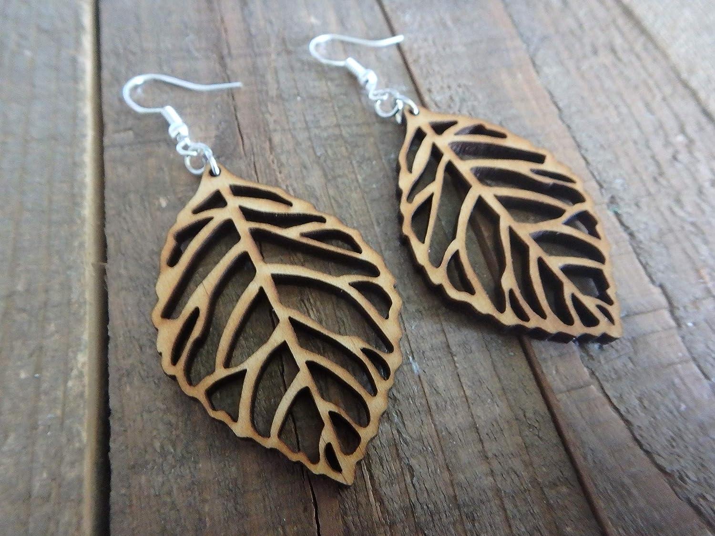 nature earrings Leaf earrings woodland earrings nature jewellery, vegan earrings forest jewellery leaf jewellery charm earrings