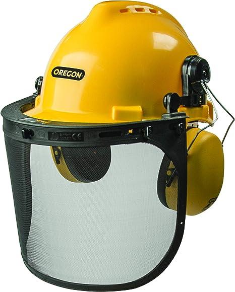 Amazon.com: Oregon 563474 Chainsaw Safety Protective Helmet With Visor Combo Set,Yellow