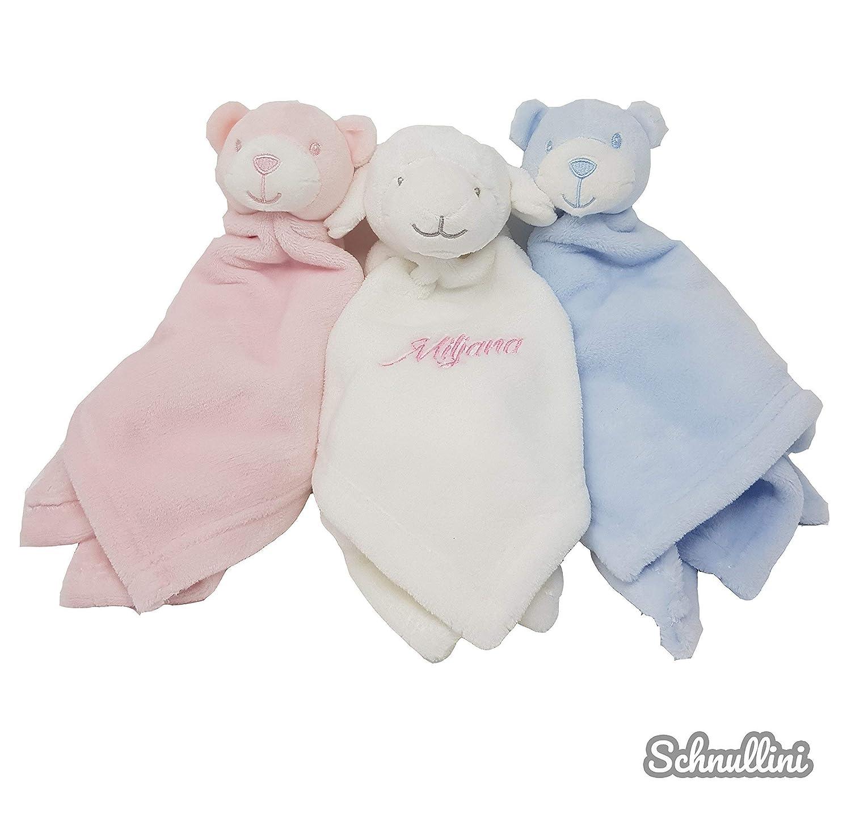 Schmusetuch Kuscheltuch mit Namen Schnuffeltuch für Baby Kinder Junge Mädchen Geburt