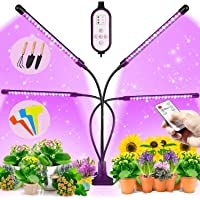 BRITOR Grow Lights for Indoor Plants,4 Head Plant Lights with 80 LED,Auto ON/Off 4/8/12H Timer, 9 Dimmable Level,3 Light…
