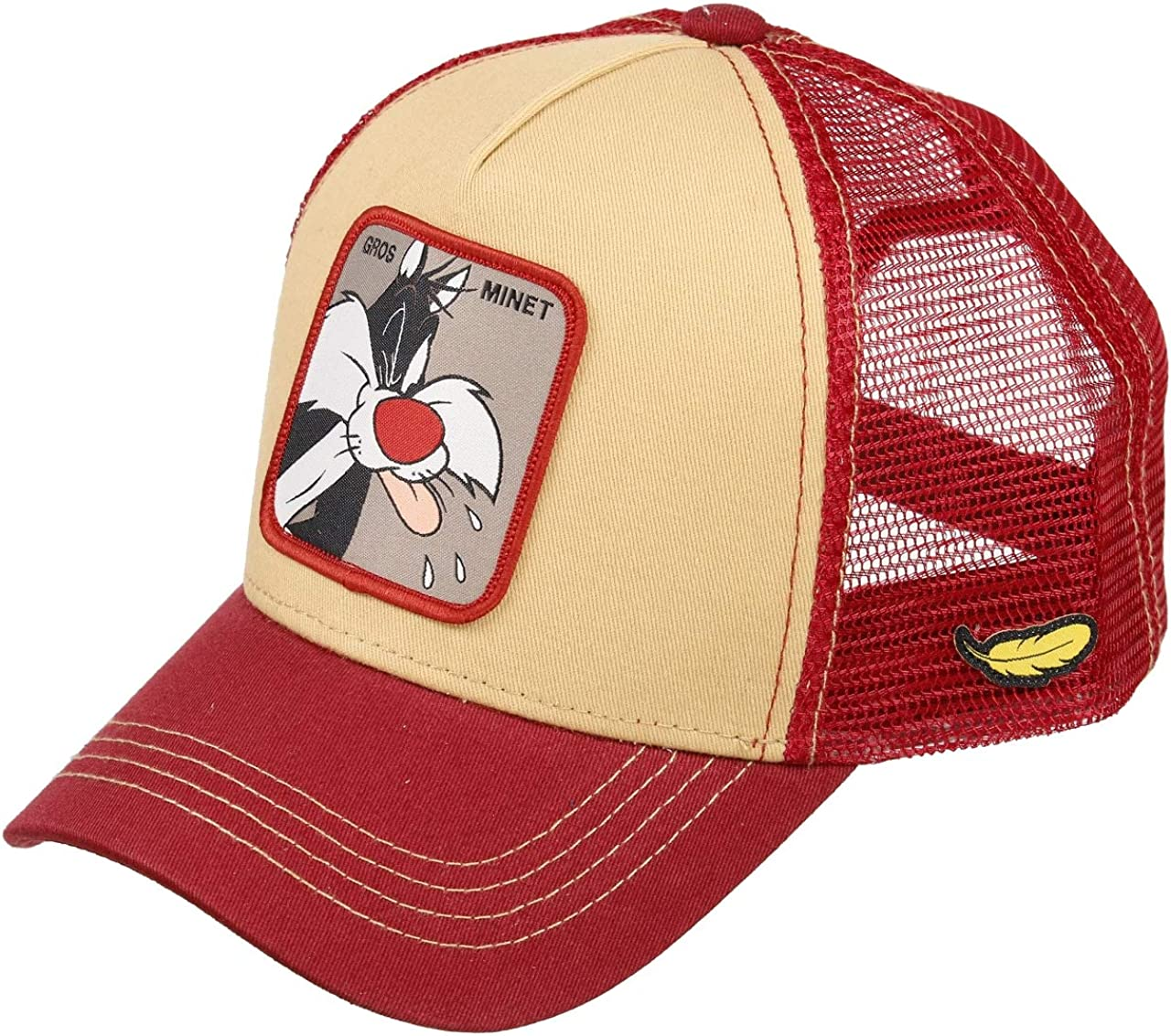 Capslab Sylvester Trucker Cap Looney Tunes Beige/Red - One-Size ...