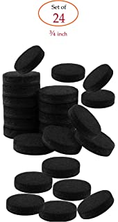 Self Stick Black Round Felt Pads 24 Piece Value Pack For Furniture Legs  Protect