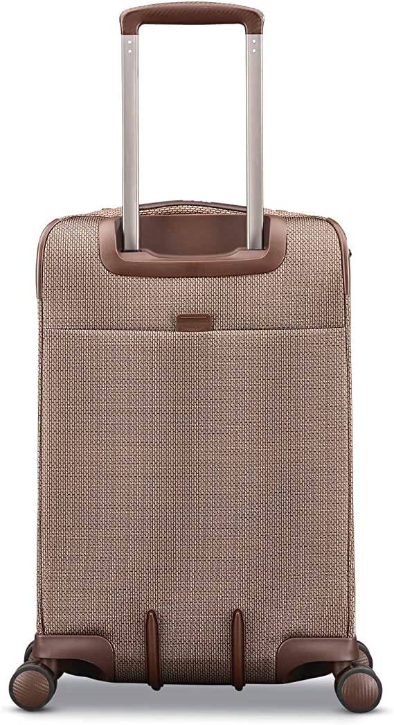 Hartmann Century Global Carry On Expandable Spinner Luggage in Basalt Black