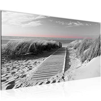 Bilder Strand Meer Wandbild Vlies - Leinwand Bild XXL Format ...