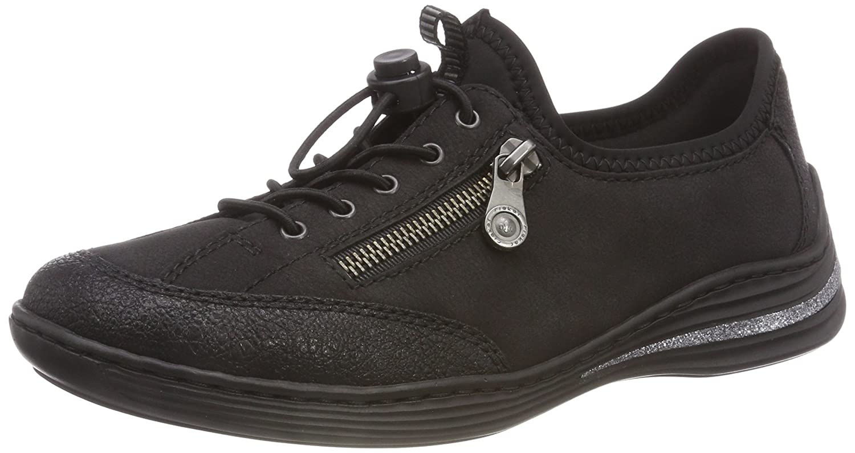 Rieker M3569, Zapatillas sin Cordones para Mujer 38 EU|Negro (Schwarz/Schwarz/Schwarz 00)