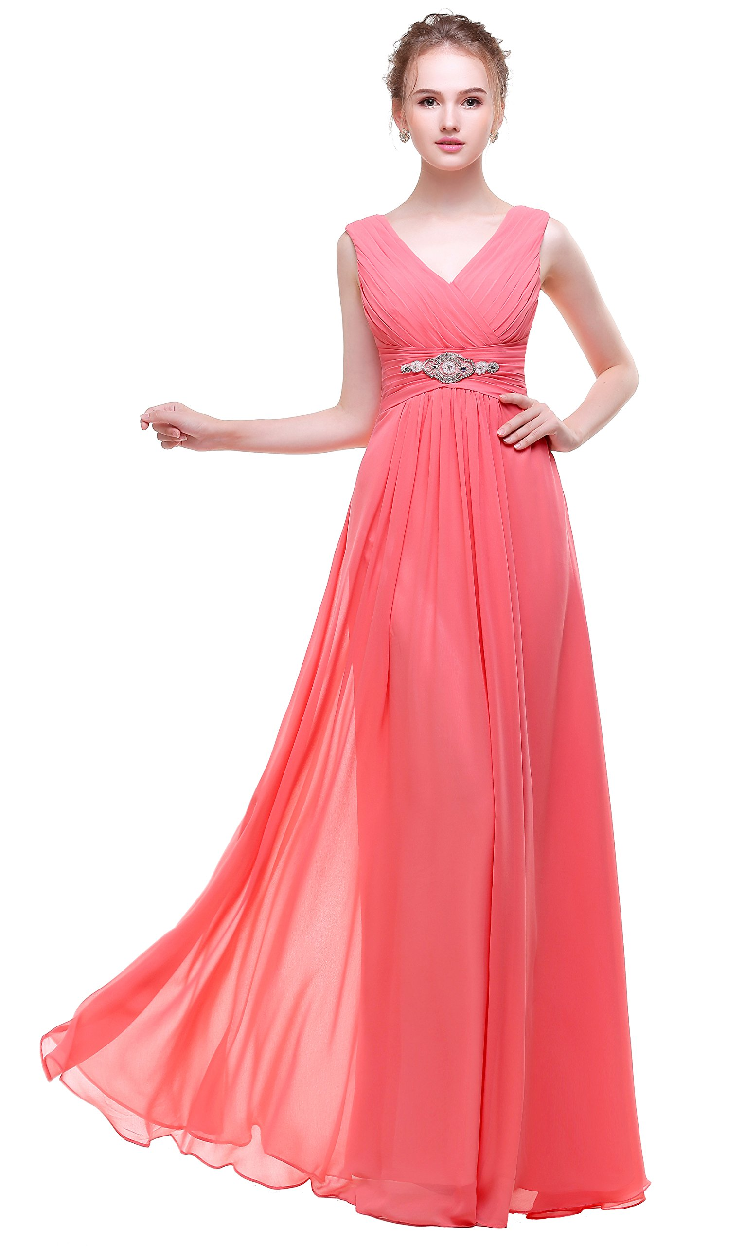 Long Formal Dress In Coral: Amazon.com