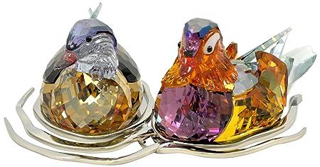 Swarovski Mandarin Ducks Figurine, Large