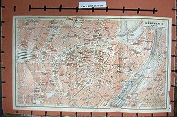 Isar Fluss Karte.Karte Fluss 1914 Des Deutschland Strassen Plan Munchen Ii Isar