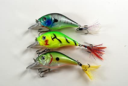 3 1//4inch 2//3 oz Crankbait Fishing Lures Shallow Water For Bass fishing C429