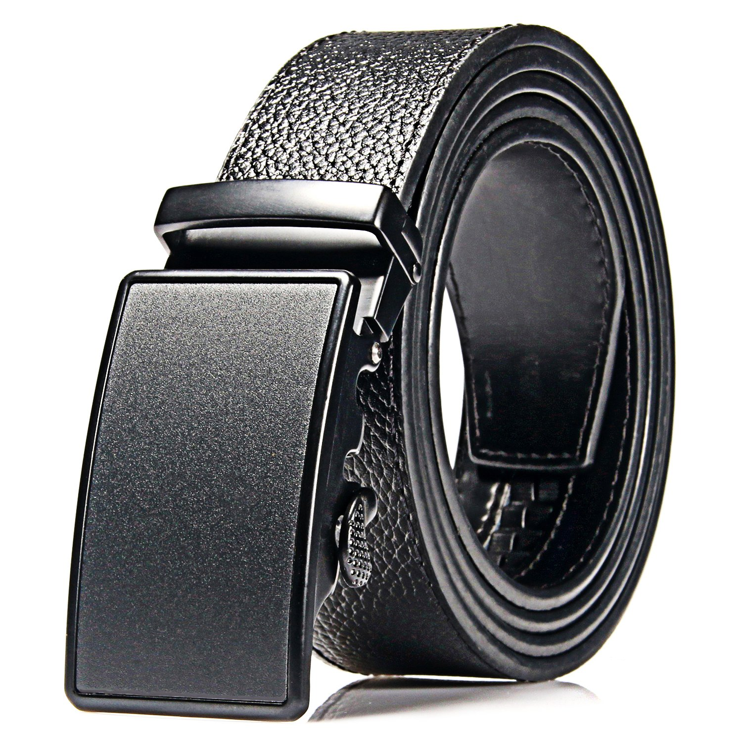 Men Designer Belt Automatic Buckle Sliding Buckle Ratchet Belt