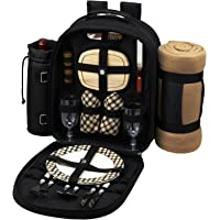 Picnic at Ascot - Deluxe Equipped 4 Person Picnic Backpack with Cooler
