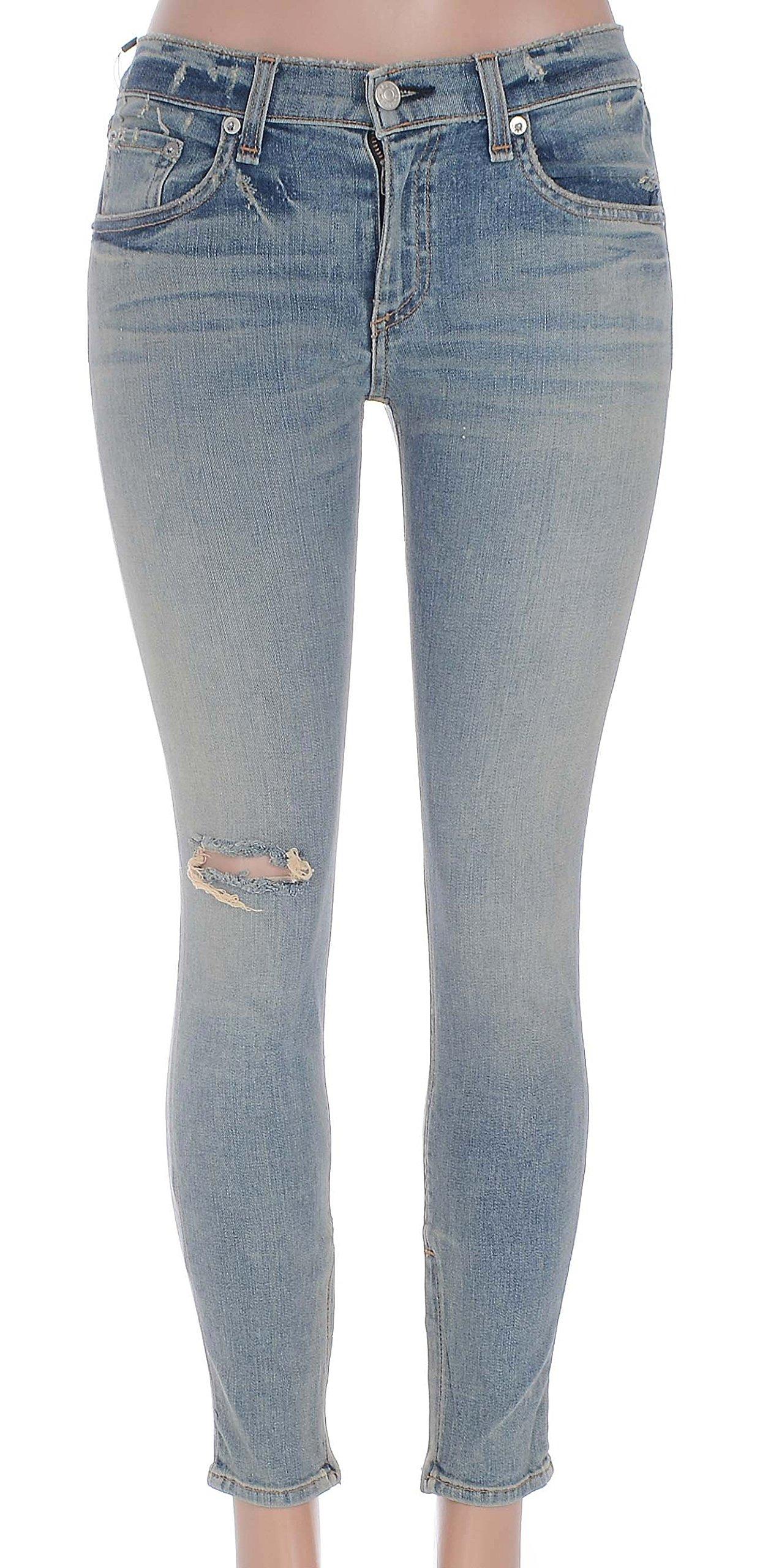 Rag & Bone Womens Zipper Capri Skinny Jeans Size 27 in Water St (27x27, Water st) by Rag & Bone/JEAN