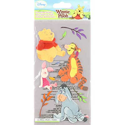 EK Success Disney Dimensional Sticker-Winnie The Pooh and Pals: Arts, Crafts & Sewing