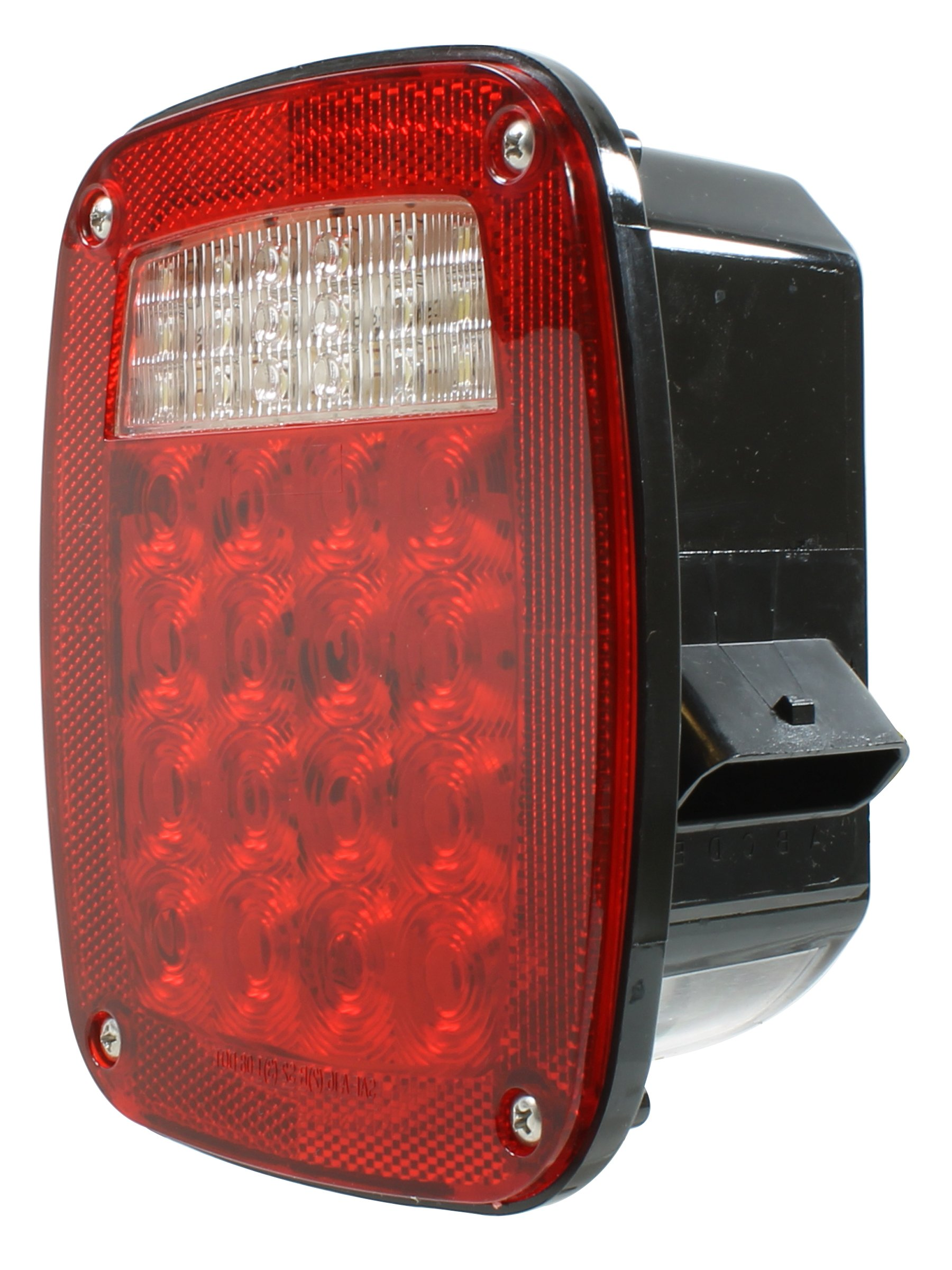 Vehicle Safety Manufacturing 5013LED Red 3-Stud LED Box Lamp with Metri-Pack Connector (Left Hand Mount) by Vehicle Safety Manufacturing